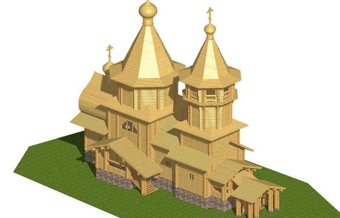 Сруб церкви 5