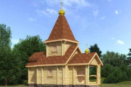 Сруб церкви 4